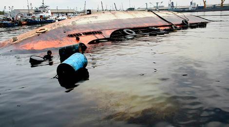 tràn dầu do nguyên nhân chìm tàu